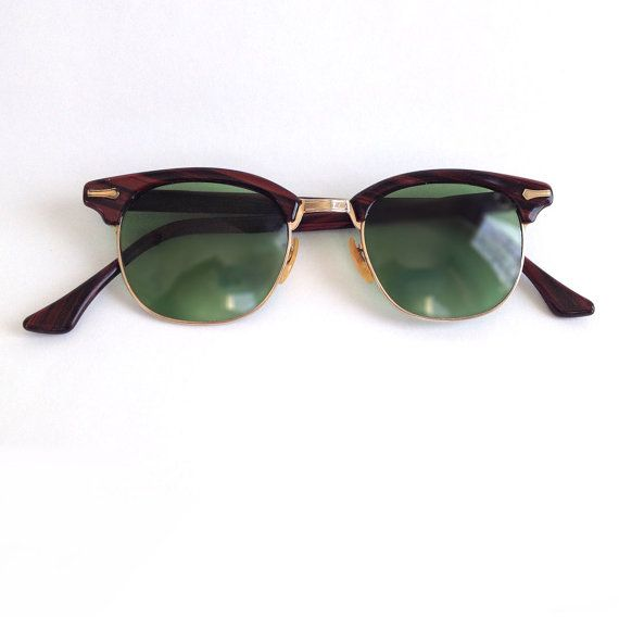 5f7ca1f814b3 Shuron Glasses Clubmaster Ronsir Syle 1950s Eyeglasses by SToNZ, $60.00