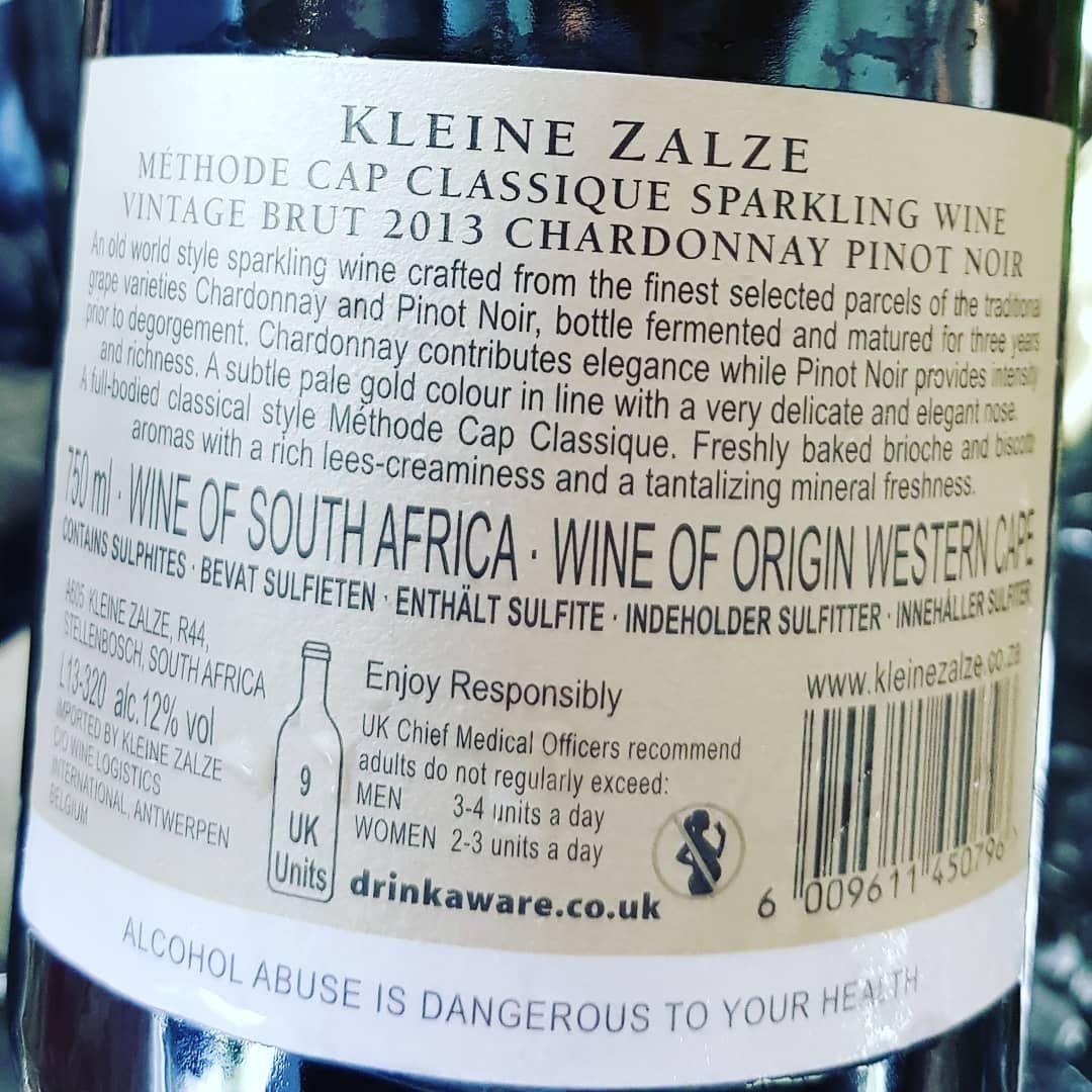Kleine Zalze Mcc Vintage Brut 2013 Chardonnay Pinot Noir Southafrica Wine Gauteng Capetown Durban Farmall Zandspruitroad Winebar Bar Restaurant Som