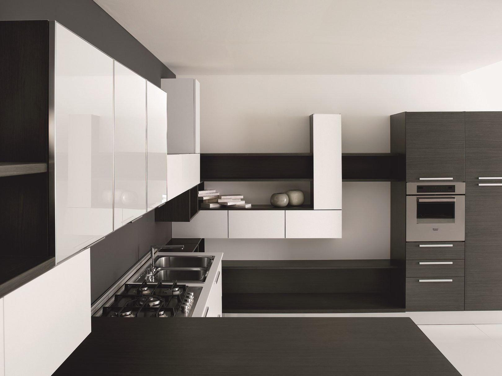 Linear Melamine Faced Chipboard Kitchen Mia Contemporary