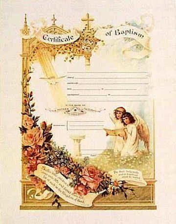Vintage Baptism Certificates I Love   Products  Blogs I Love