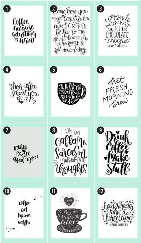 Coffee Free Printables 180+ Ultimate Guide • Little Gold Pixel is part of Free printables - In which I round up 180+ coffee free printables from all corners of the Internet  If you're a caffeine fiend looking for art, you've found the motherlode