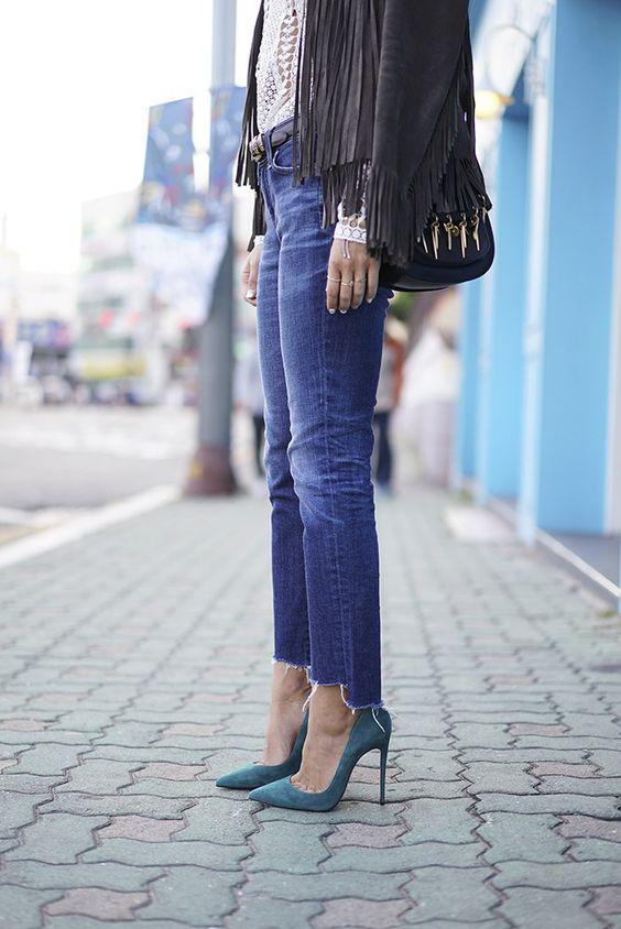 DIY Frayed Denim | Fashion, Frayed hem jeans, Denim trends