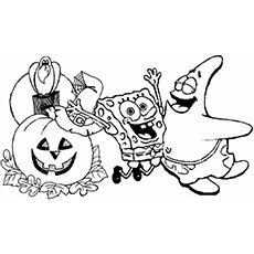 Spongebob Coloring Page Spongebob Coloring Halloween Coloring Pages Spongebob Halloween