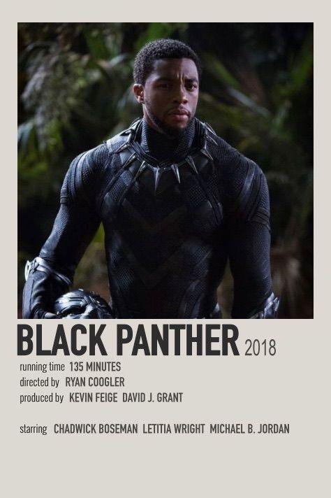 Black Panther alternate polaroid movie poster