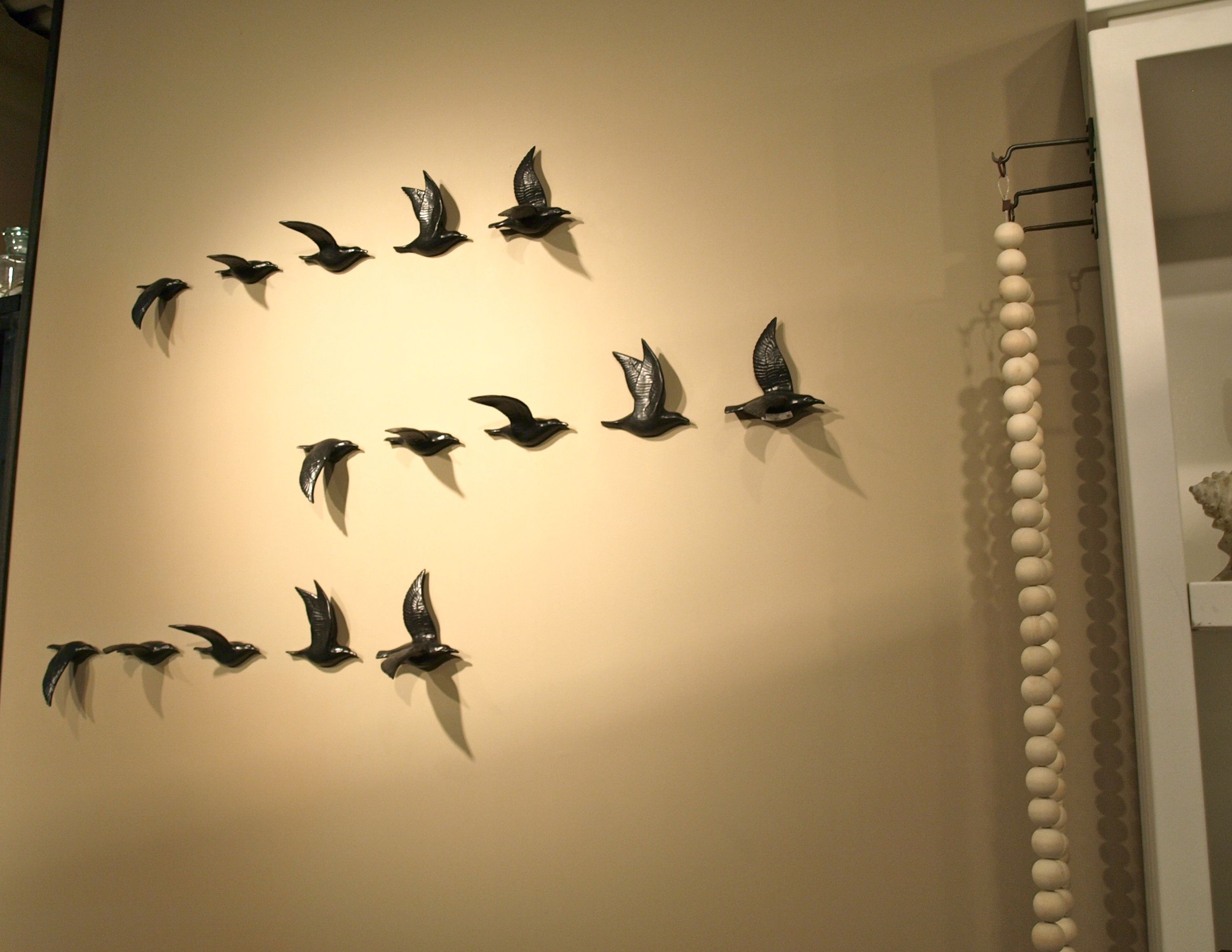 Really cool flying bird wall sculpture/coat rack. | Accoutrements ...