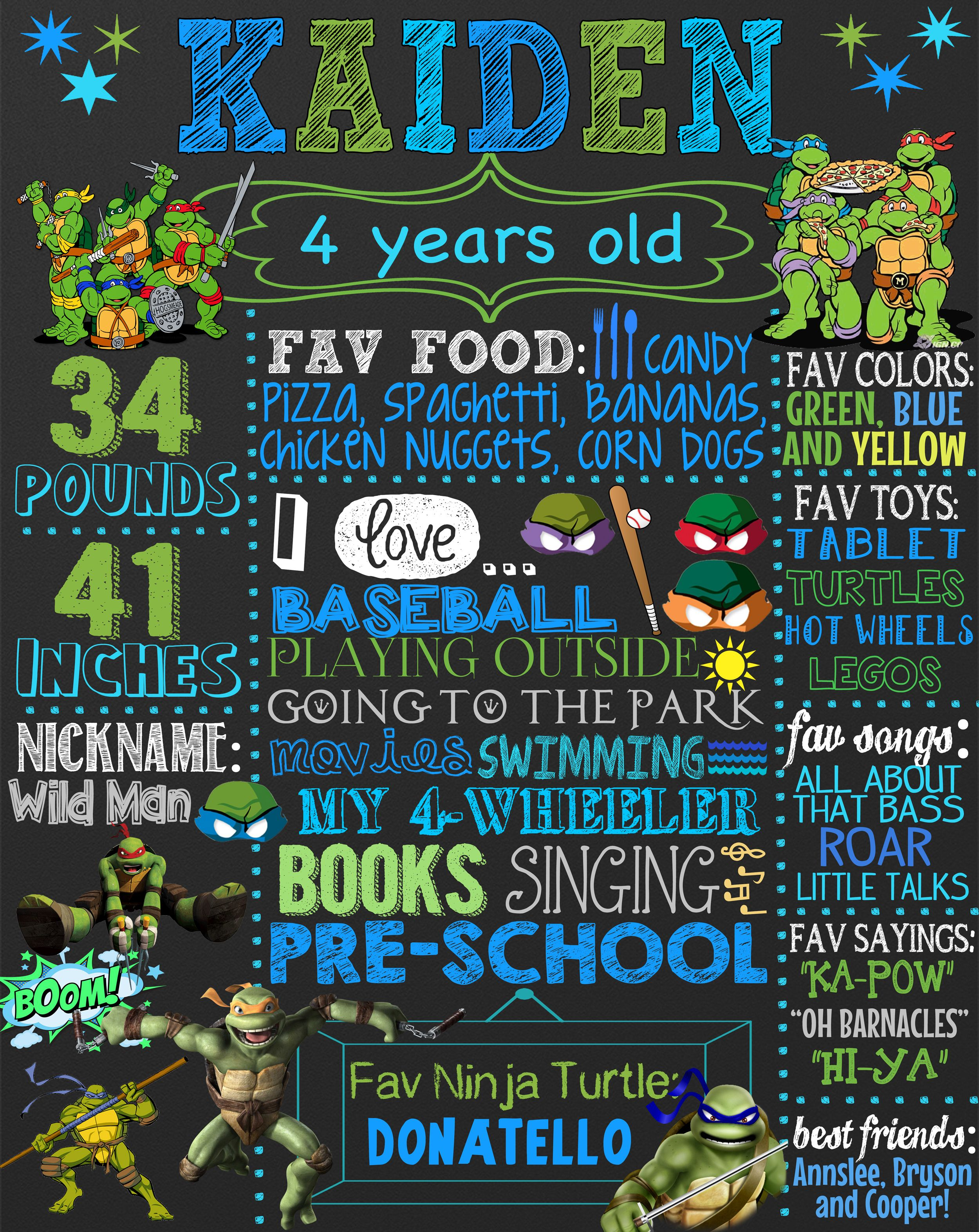 TMNT Birthday party ideas, great ninja turtle birthday decoration ...