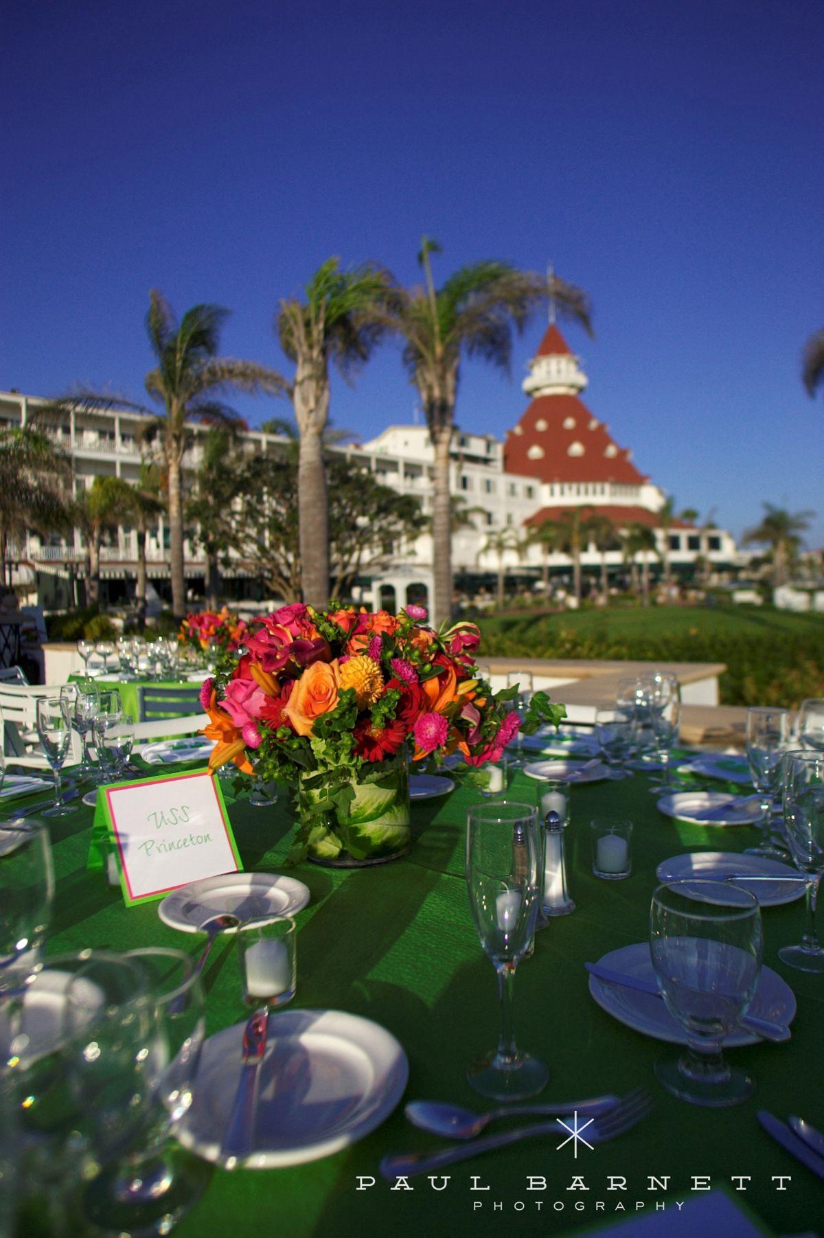 Lime Green + Hot Pink + Hotel Del Coronado = Perfect