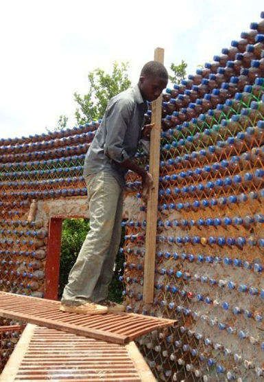 plastic bottle homes - Plastic bottle homes may be the new thing when it comes to green architecture -- in any case, they are creating quite a stir in the village of Yelw...