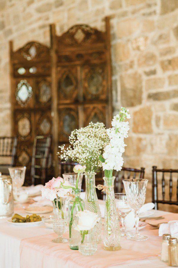 Hochzeit vintage stil tischdeko pfirsich tischdecke for Tischdeko frankreich ideen