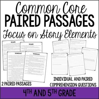 Paired Passages {Comparing Story Elements in the Same Genre} | | 5th