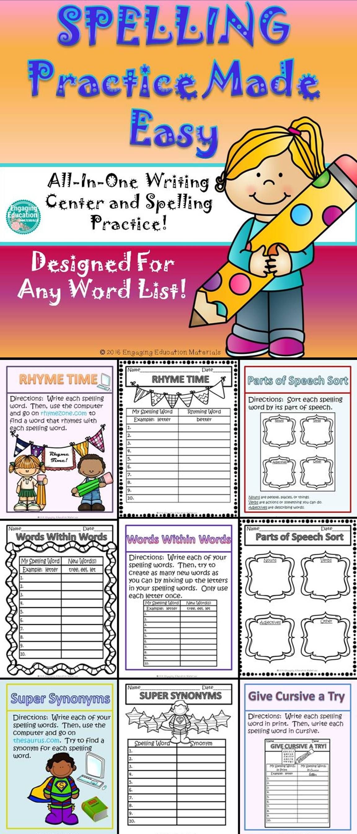 My Students Love These Spelling And Writing Activities