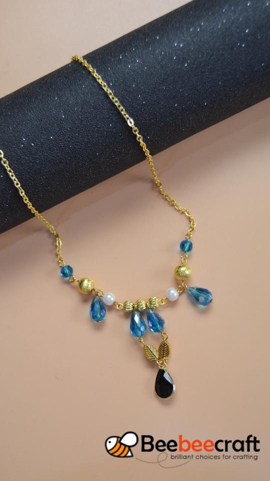 #Beebeecraft tutorial sobre cómo hacer #necklace con #glassbeads.