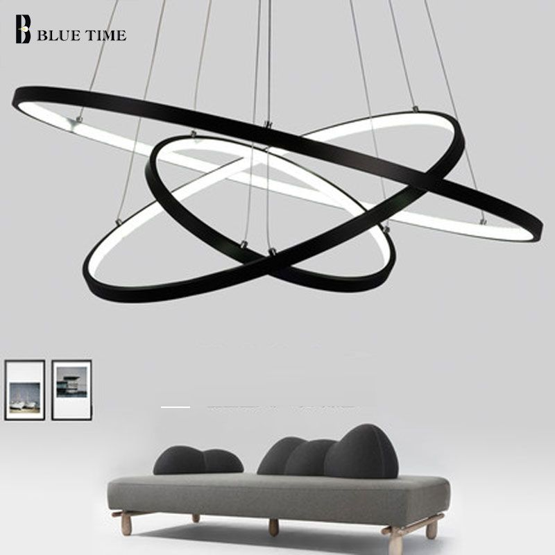 Glod zwart wit kleur moderne hanglampen voor woonkamer for Led hanglampen woonkamer