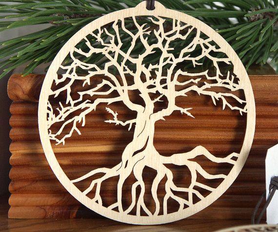 baum des lebens verzierung holzschnitt lebensbaum von