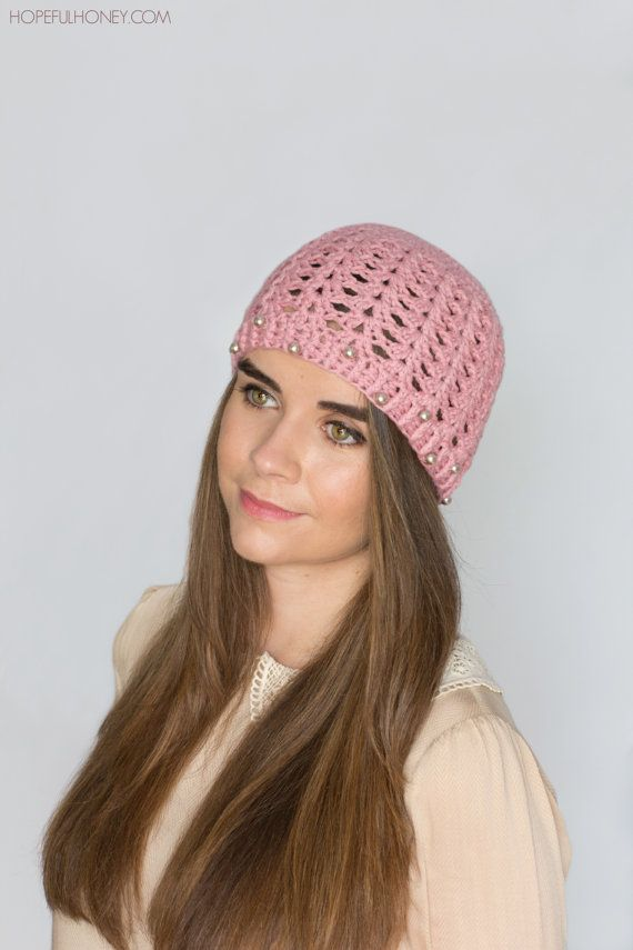CROCHET PATTERN - Pearly Rose Vintage Hat