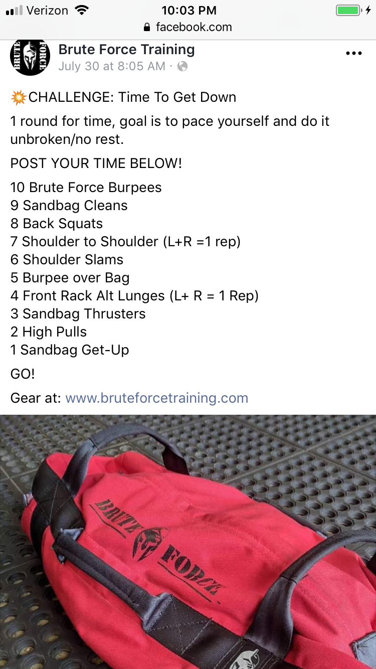 Sandbag Workout Brute Force Bags Sandbag Workout Tire Workout Full Body Workout Routine