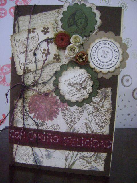 Tarjetas diseñadas en Vintage y Scrap, arte y originalidad para regalar con amor, gratitud y alegría.