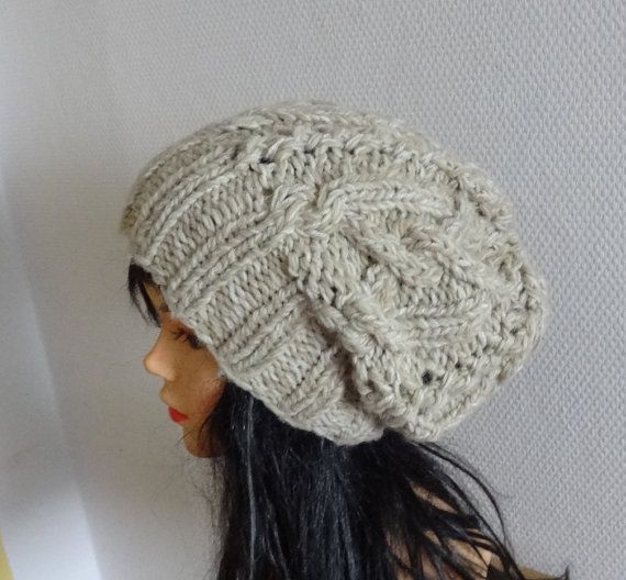 Sacking Winter Knit Cable Hat  Autumn Accessories  by Ifonka, $28.00