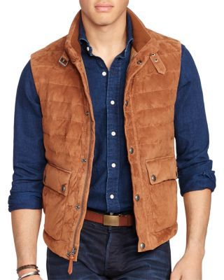 Suede Vest1 In Polo Down 00 Ralph Lauren Quilted 095 Supple odCxBe