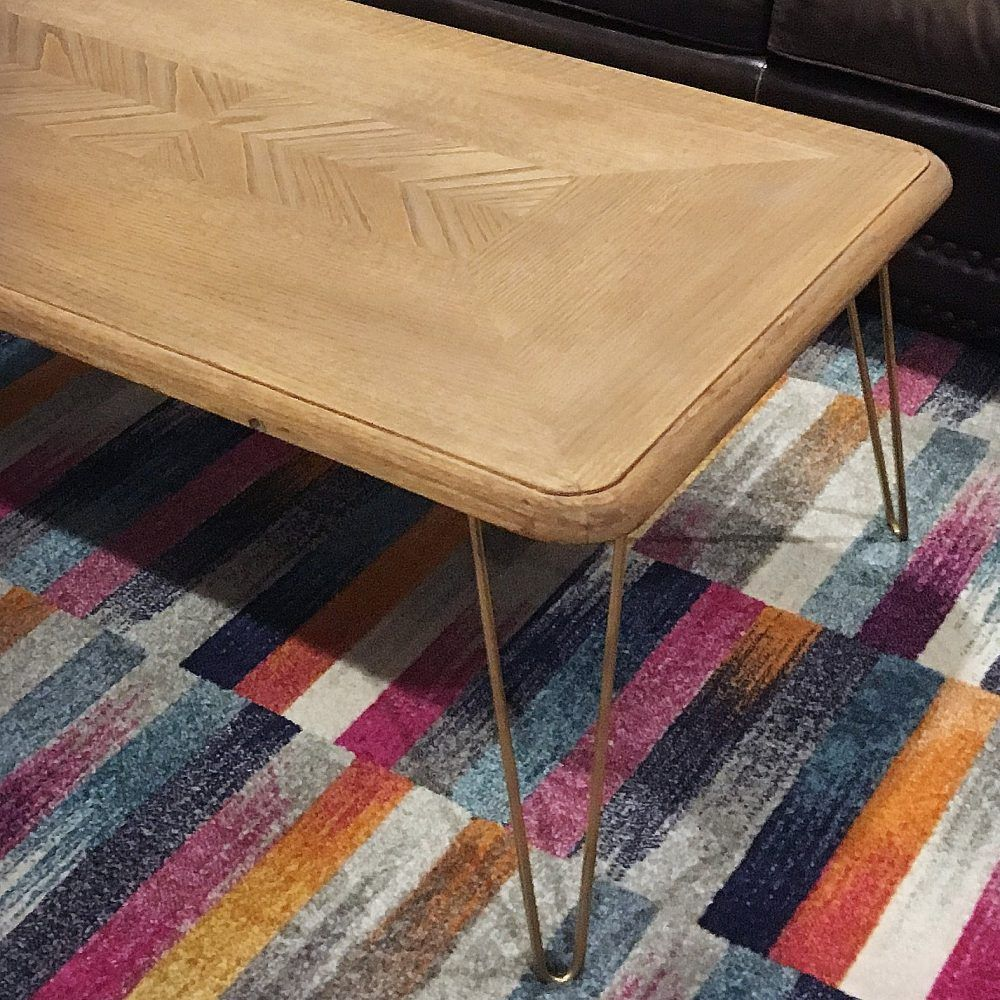 How to Make a Modern Hairpin Leg Coffee Table for under ...