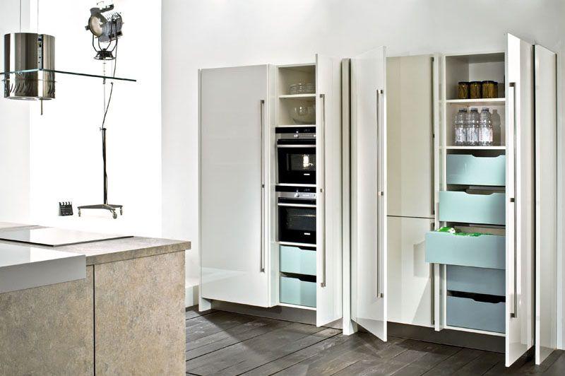 4080 | 4030   Häcker Küchen Tessina | Bianco Lucido Brillante Laccato