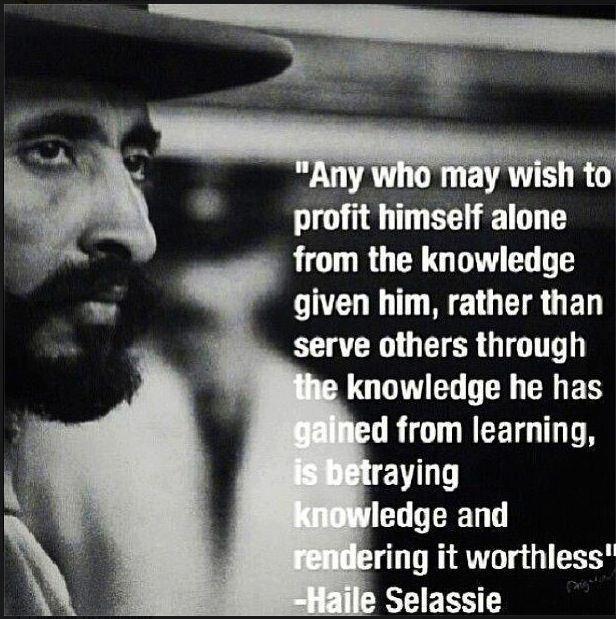 Selassie | Haile selassie quotes, Haile selassie, Knowledge