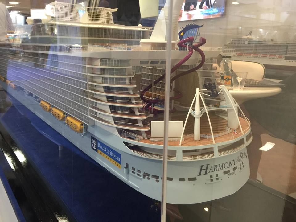 A Photo Of The Ultimate Abyss On The Harmony Of The Seas Model At - Cruise ship supplies