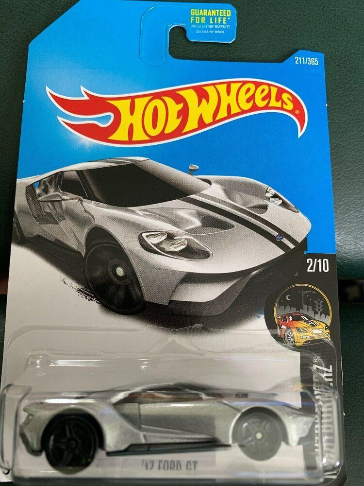 Hot Wheels 2017 Ford Gt Silver Car Hw Nightburnerz Ebay Hot