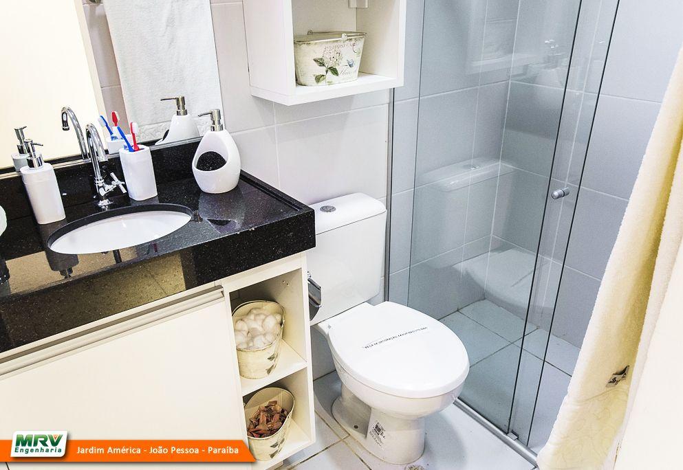 Apartamento decorado 2 quartos do Jardim América no bairro Ernani Sátiro  Jo -> Banheiro Planejado Mrv