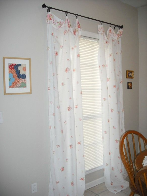 Diy No Sew Vintage Sheet Curtain Tutorial Diy Tips For Home
