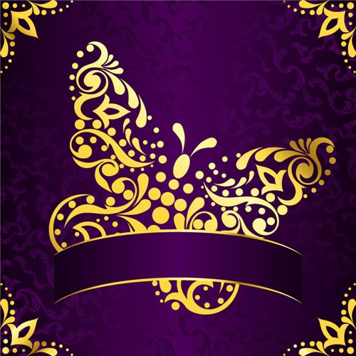 Purple and Gold Backgrounds | Golden easter pattern and ...