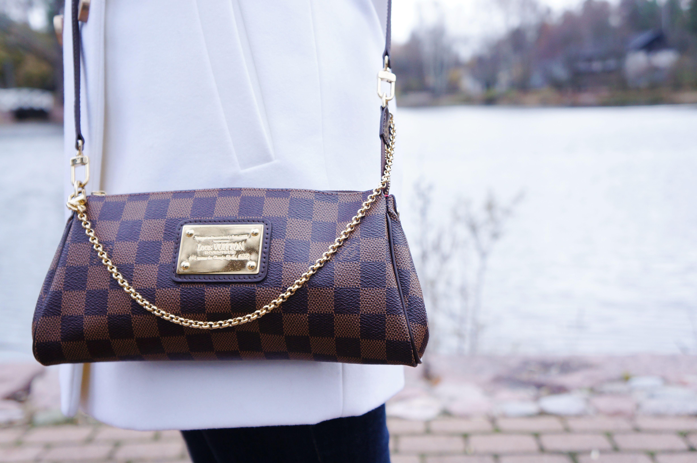 3b29eff10c46 Louis Vuitton Eva Clutch Damier Ebene | Love Handbags | Louis ...