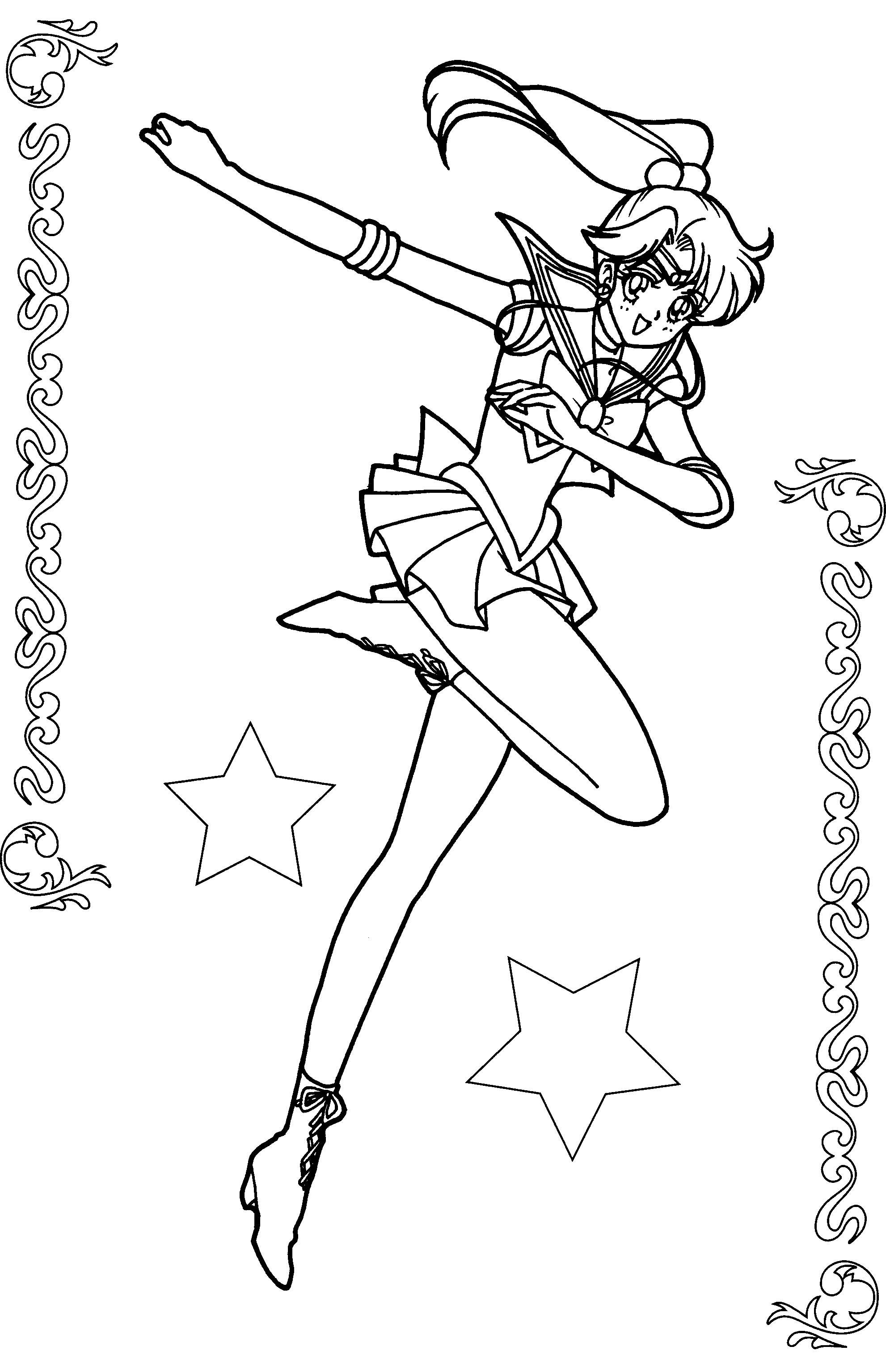 Pictures Sailor Jupiter Coloring Book Sailor Moon Coloring Pages