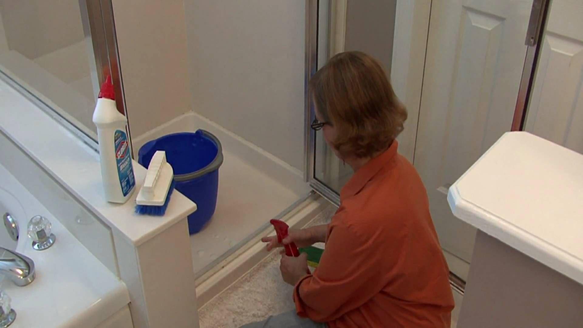Bathroom Cleaning Tips How to Clean Shower Door Tracks