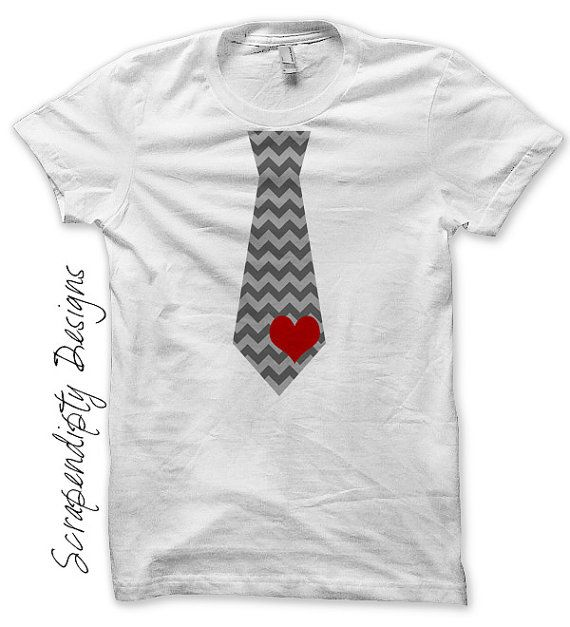 Iron on Tie Shirt PDF Valentines Day Iron on Transfer