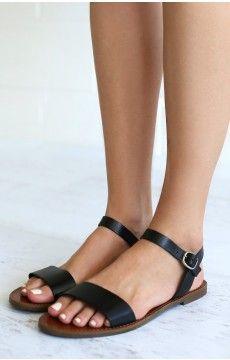 eb02b9bcb3e7 Windsor Smith Bondi Sandals Black Leather