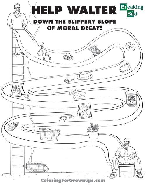 Moral Decay Breaking Bad Coloring Books Walter Breaking Bad