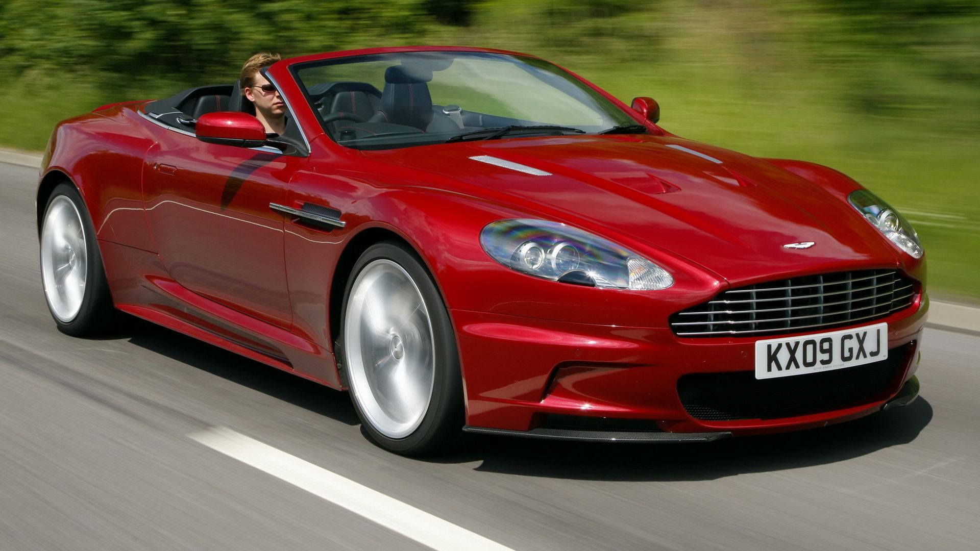 Wallpaper Aston Martin Cars Trees Side View 2009 Red Speed Dbs Aston Martin Cars Aston Martin Aston