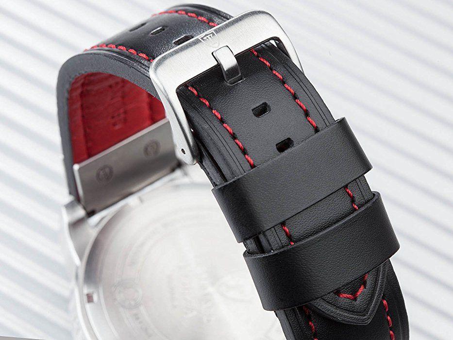 Detomaso Men's DT2056-A Forza XXL Trend Schwarz Analog Display Japanese Automatic Black Watch