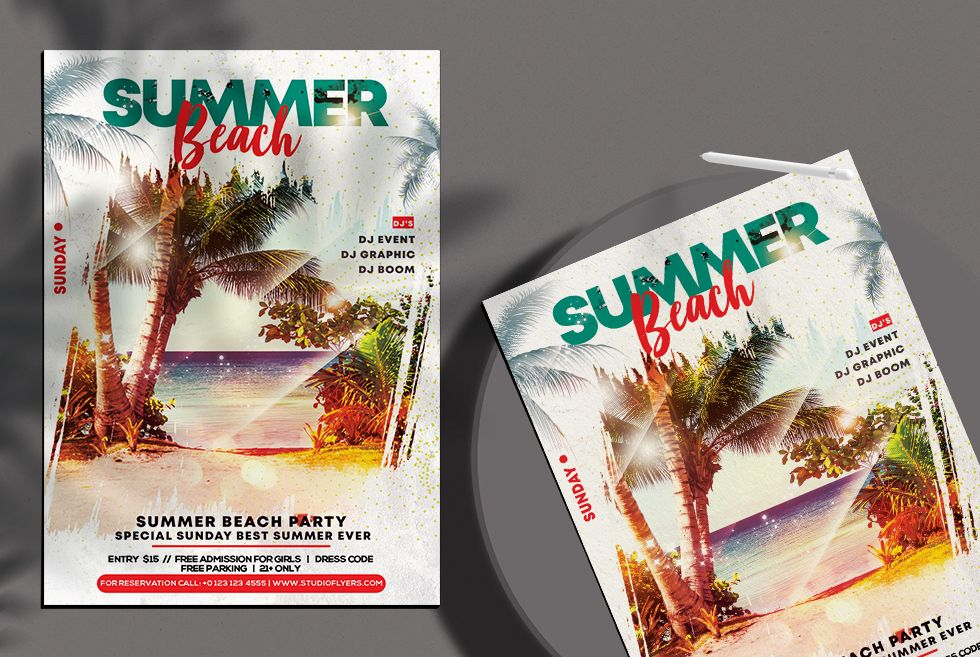 Sunset Event Free PSD Flyer Template in 2020 Free psd