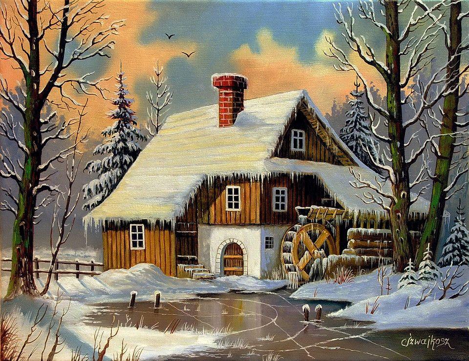 картинки зима домик в лесу нарисовать веласкес символ борьбы