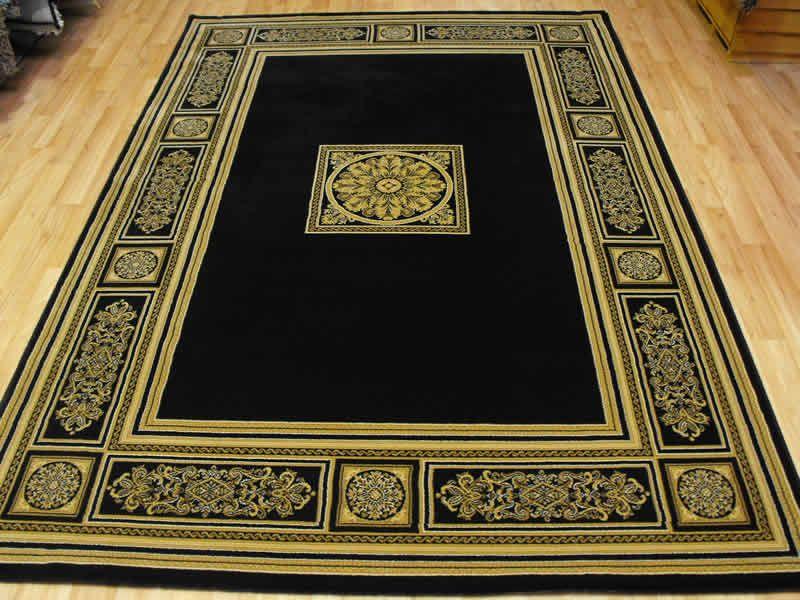 Da Vinci BlackBeige Medallion Black rug, Rugs