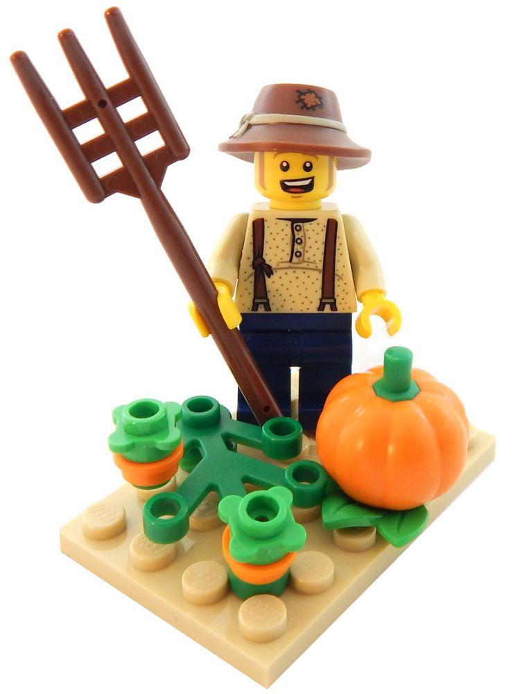 """LEGO /""""FARMER/"""" minifig Brand New!"""