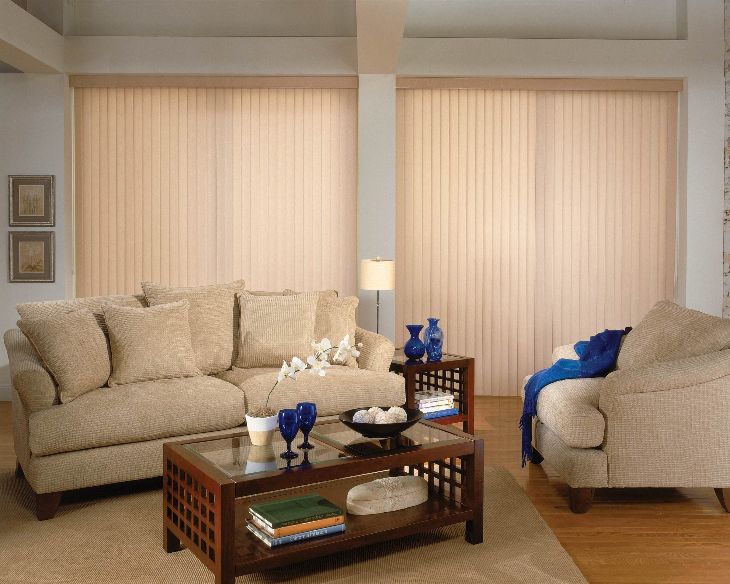 Good old vertical blinds are still a great way to cover your patio