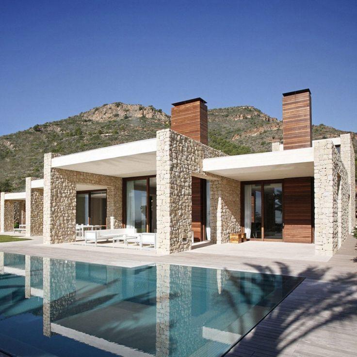 Home Design, Modern Architecture Popular In Spanish: Modern Popular Home Style W... - #architecture...
