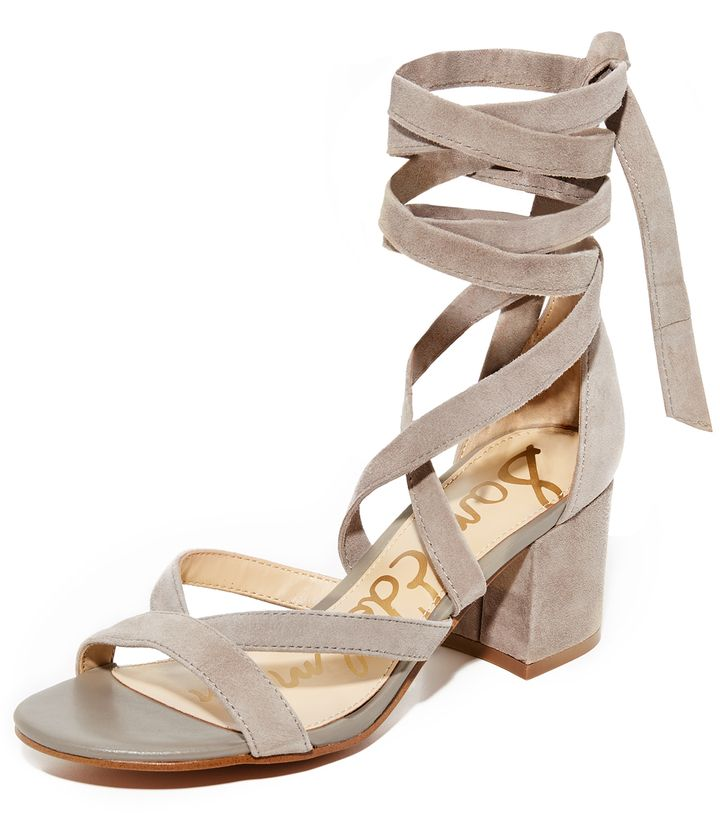 a7dffdb14306 Sam Edelman Sheri Suede City Sandals Slim crisscross straps lace-up these  soft suede Sam Edelman sandals. Wraparound ties at the ankle.
