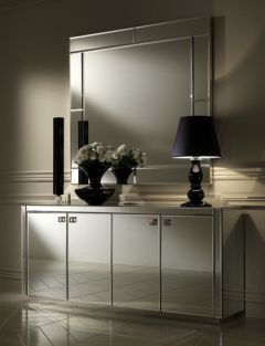 Bronze Mirrored Buffet And Mirror Mirrored Furniture Mirror