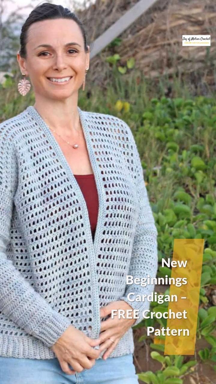 Photo of New Beginnings Cardigan – FREE Crochet Pattern