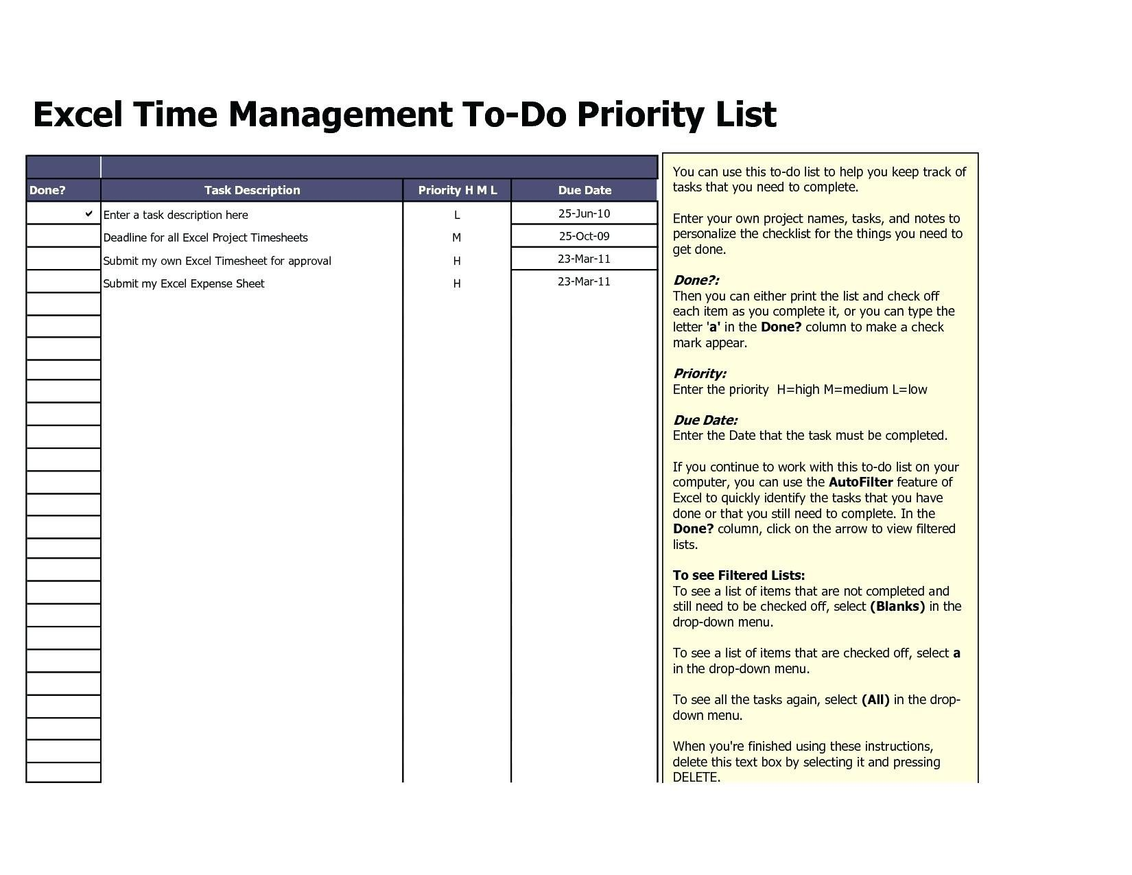 Unique Weekly Task List Template Excel Xls Xlsformat Xlstemplates Xlstemplate List Template Task List To Do List