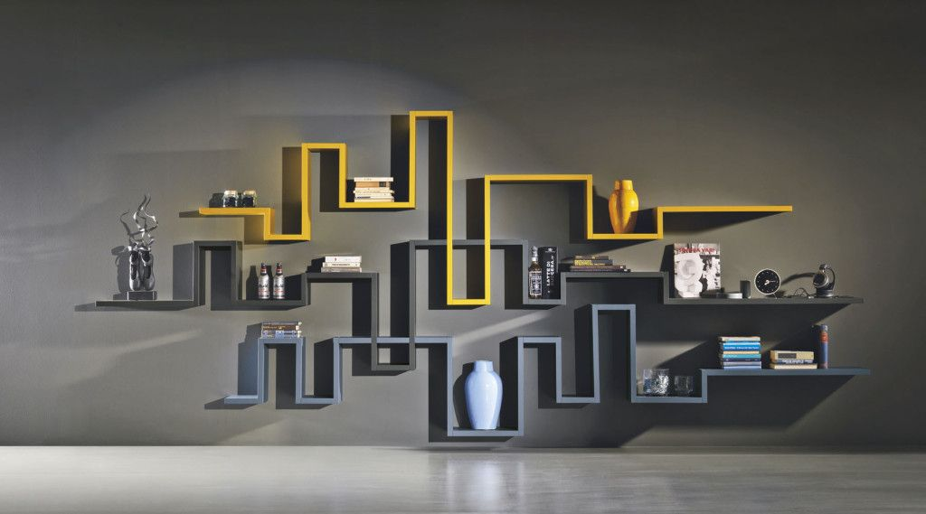 15 Cool Contemporary Designs For Wall Shelving Systems Modern